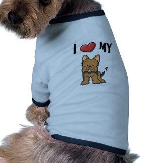 Eu amo meu Yorkie Camisetas Para Caes
