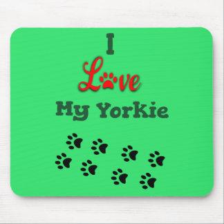Eu amo meu Yorkie Mousepad