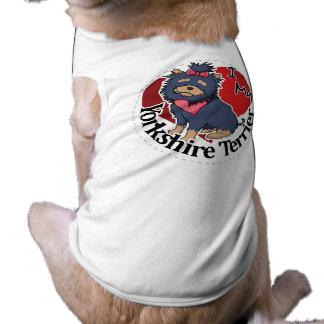 Eu amo meu Yorkshire engraçado & bonito adorável Camiseta