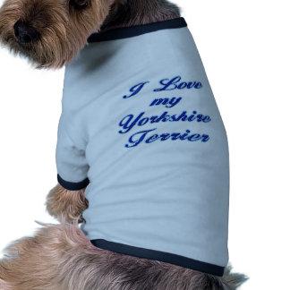 Eu amo meu yorkshire terrier roupas para pet