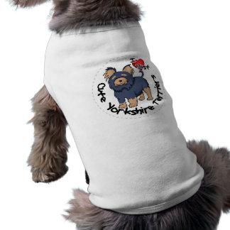 Eu amo meu yorkshire terrier engraçado & bonito camiseta