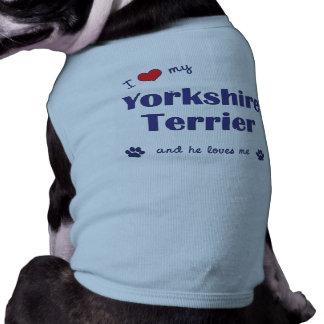 Eu amo meu yorkshire terrier o cão masculino roupas para pets