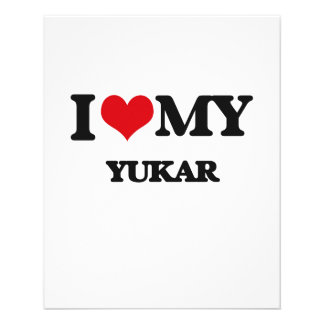 Eu amo meu YUKAR Panfletos Coloridos