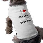 Eu amo meus avó & vovô roupas para caes
