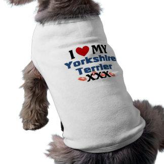 Eu amo meus beijos de Yorkshire Camisas Para Cães