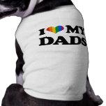 Eu amo meus pais camisas para cães