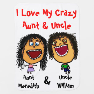 Eu amo meus tia e tio loucos Bebê Cobertura Cobertorzinhos Para Bebe