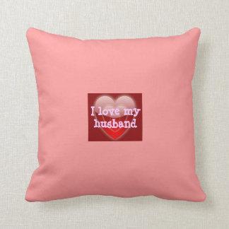 Eu amo meus travesseiros do marido almofada