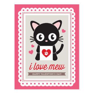 Eu amo Mew! por Origami imprime o cartão dos namor Cartão Postal
