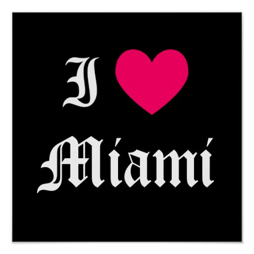 Eu amo Miami Posters