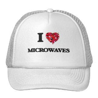 Eu amo microondas boné