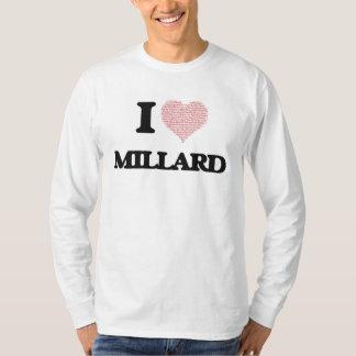 Eu amo Millard (o coração feito das palavras do T-shirt