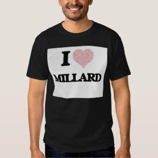 Eu amo Millard (o coração feito das palavras do Tshirt