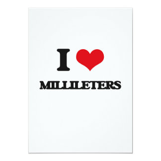 Eu amo Millileters