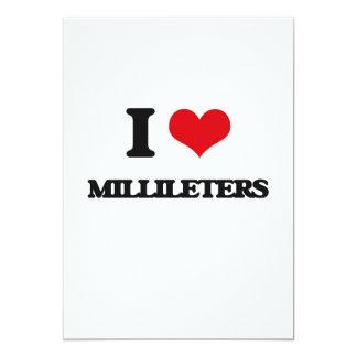 Eu amo Millileters Convite 12.7 X 17.78cm