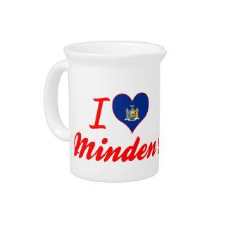 Eu amo Minden, New York Jarros Para Bebidas