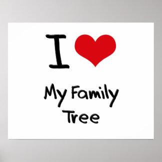 Eu amo minha árvore genealógica poster