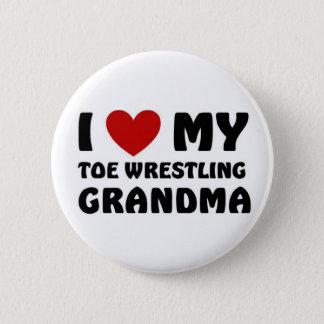 Eu amo minha avó da luta do dedo do pé bóton redondo 5.08cm