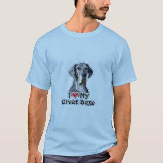Eu amo minha camisa da sela T de great dane