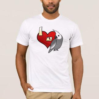 Eu amo minha camisa do Cockatiel T de Whiteface
