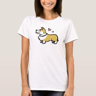 Eu amo minha camisa do corgi