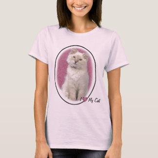 Eu amo minha camisa do gato t