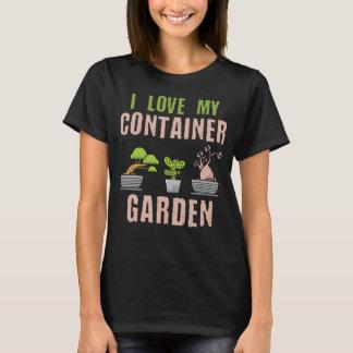 Eu amo minha camisa do jardim T do recipiente