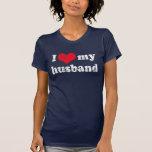 Eu amo minha camisa do marido t tshirt