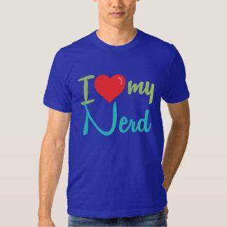 Eu amo minha camisa do nerd tshirts