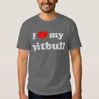 Eu amo minha camisa do pitbull t t-shirt