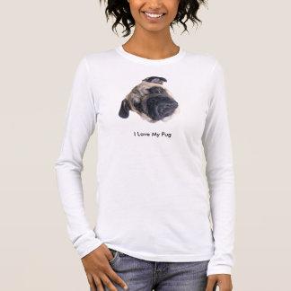 Eu amo minha camisa do Pug
