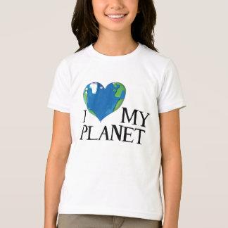 Eu amo minha camisa dos miúdos do planeta