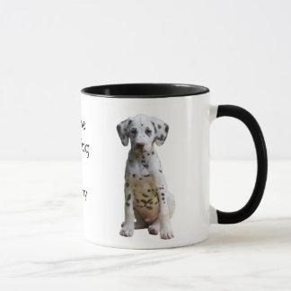 Eu amo minha caneca de café Dalmatian do cão