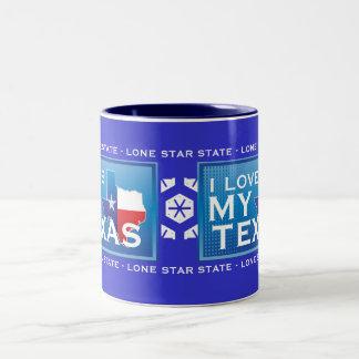 Eu amo minha caneca de café de Texas