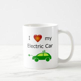Eu amo minha caneca do carro elétrico