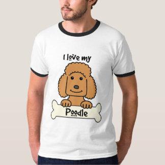 Eu amo minha caniche camiseta