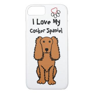 Eu amo minha capa de telefone de cocker spaniel