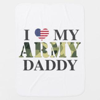 Eu amo minha cobertura do bebê do pai do exército mantas de bebe