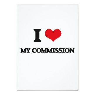 Eu amo minha comissão convite 12.7 x 17.78cm
