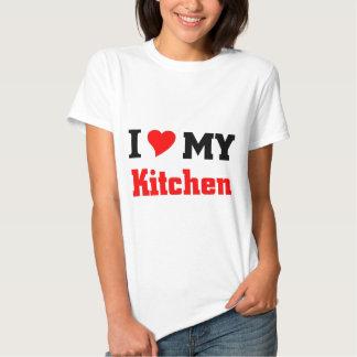 Eu amo minha cozinha camisetas