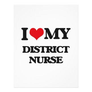Eu amo minha enfermeira do distrito panfleto personalizados