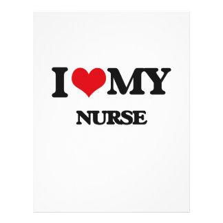Eu amo minha enfermeira panfletos