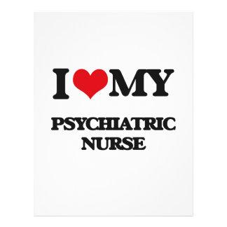 Eu amo minha enfermeira psiquiátrica panfletos coloridos