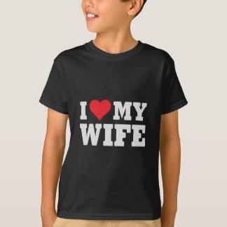Eu amo minha esposa camiseta