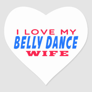 Eu amo minha esposa da dança do ventre adesivo coração