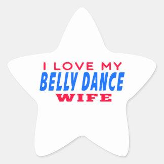 Eu amo minha esposa da dança do ventre adesivos estrelas