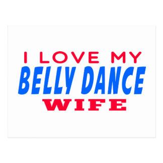Eu amo minha esposa da dança do ventre cartões postais