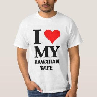 Eu amo minha esposa havaiana camiseta