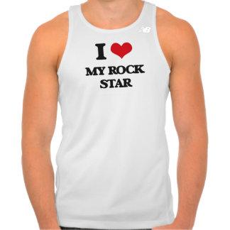 Eu amo minha estrela do rock t-shirt