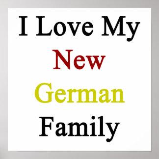 Eu amo minha família alemão nova posteres